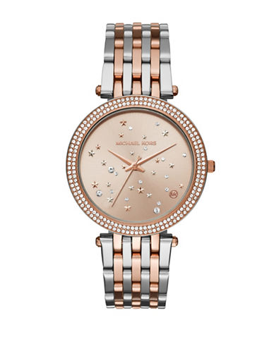 Michael Kors Darci Two-Tone Stainless Steel Link Bracelet Watch-MULTI-One Size