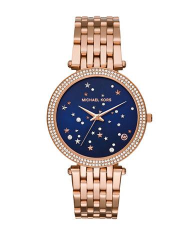 Michael Kors Darci Rose Goldtone Stainless Steel Link Bracelet Watch-ROSE GOLD-One Size