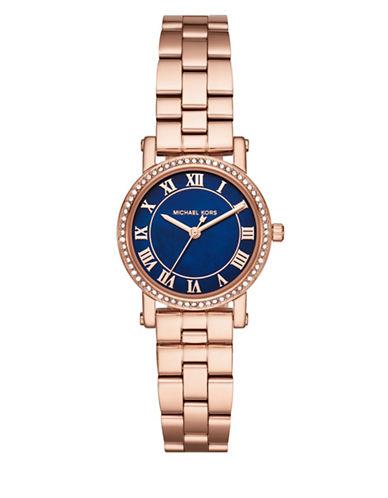 Michael Kors Petite Norie Rose Goldtone Stainless Steel Link Bracelet Watch-ROSE GOLD-One Size