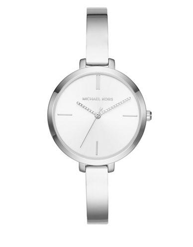 Michael Kors Jaryn Stainless Steel Bracelet Watch-SILVER-One Size