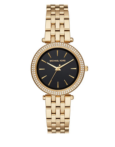 Michael Kors Mini Darci Analog Ladiesmetals Bracelet Watch-GOLD-One Size