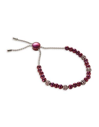 Michael Kors Crystal Beaded Bracelet-PURPLE-One Size