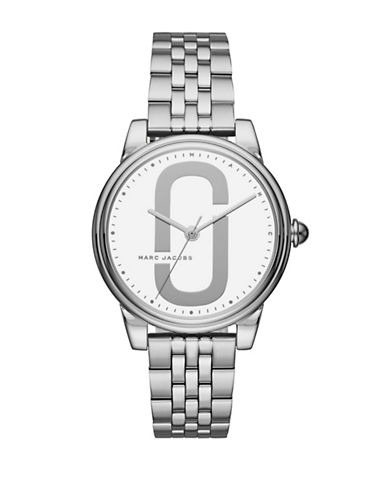 Marc Jacobs Corie Stainless Steel Link Bracelet Watch-SILVER-One Size