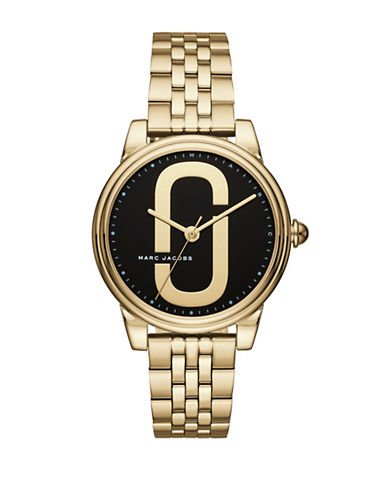 Marc Jacobs Corie Goldtone Stainless Steel Link Bracelet Watch-GOLD-One Size