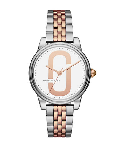 Marc Jacobs Corie Two-Tone Stainless Steel Link Bracelet Watch-MULTI-One Size
