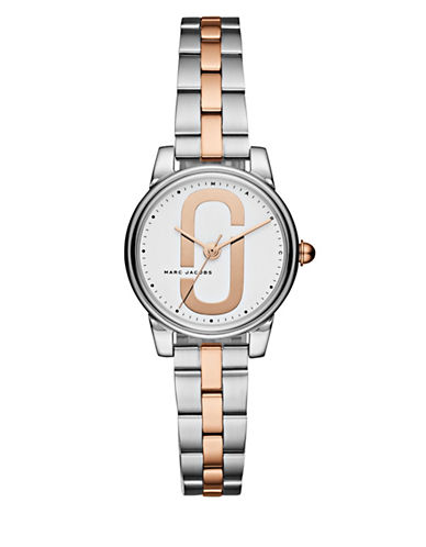 Marc Jacobs Corie Two-Tone Stainless Steel Link Bracelet Watch-ASSORTED-One Size