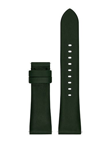 Michael Kors Bradshaw Olive Leather Watch Strap-BLACK-One Size
