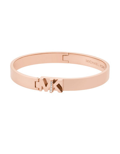 Michael Kors Studded Bangle Bracelet-ROSE GOLD-One Size