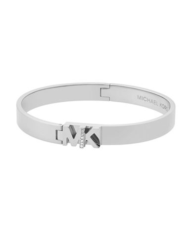 Michael Kors Studded Bangle Bracelet-SILVER-One Size