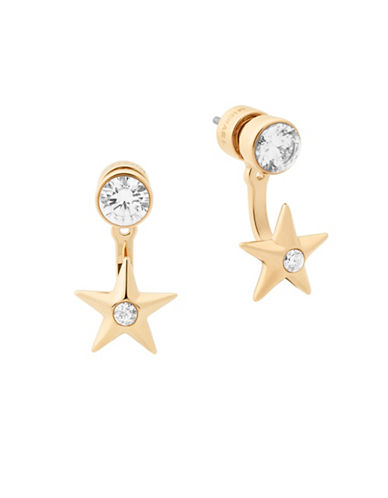 Michael Kors Beyond Brilliant Celestial Stud Earrings-GOLD-One Size