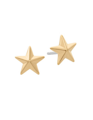 Michael Kors Beyond Brilliant Celestial Star Stud Earrings-GOLD-One Size