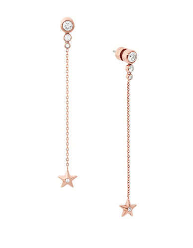 Michael Kors Celestial Dangle and Drop Earrings-ROSE GOLD-One Size