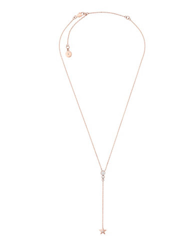 Michael Kors Beyond Brilliant Celestial Lariat Necklace-ROSE GOLD-One Size