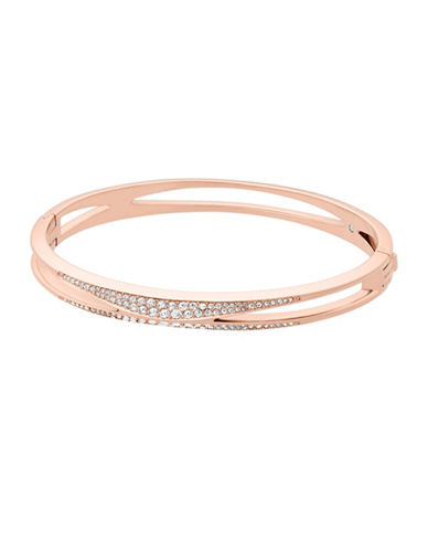 Michael Kors Pave Bangle Bracelet-ROSE GOLD-One Size