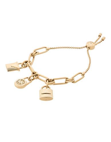 Michael Kors Charm Slider Bracelet-GOLD-One Size