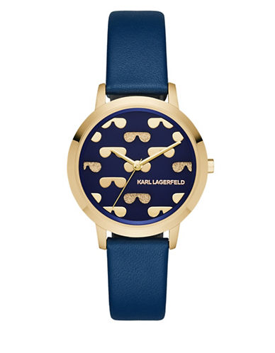 Karl Lagerfeld Paris Camille Strap Watch-BLUE-One Size