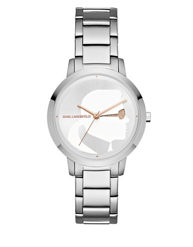 Karl Lagerfeld Paris Camille Stainless Steel Bracelet Watch-SILVER-One Size