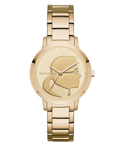 Karl Lagerfeld Paris Camille Stainless Steel Bracelet Watch-GOLD-One Size