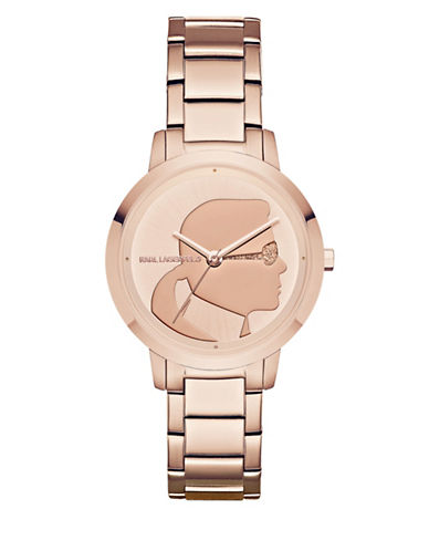Karl Lagerfeld Paris Camille Stainless Steel Bracelet Watch-ROSE GOLD-One Size