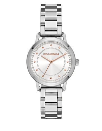 Karl Lagerfeld Paris Vanessa Stainless Steel Bracelet Watch-SILVER-One Size