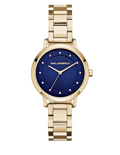 Karl Lagerfeld Paris Vanessa Goldtone Stainless Steel Bracelet Watch-GOLD-One Size