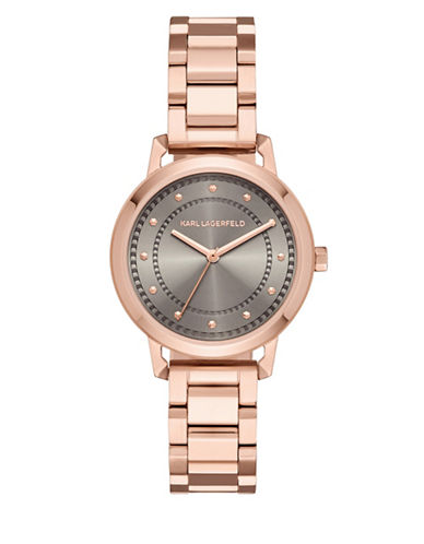 Karl Lagerfeld Paris Vanessa Rose Goldtone Stainless Steel Bracelet Watch-ROSE GOLD-One Size