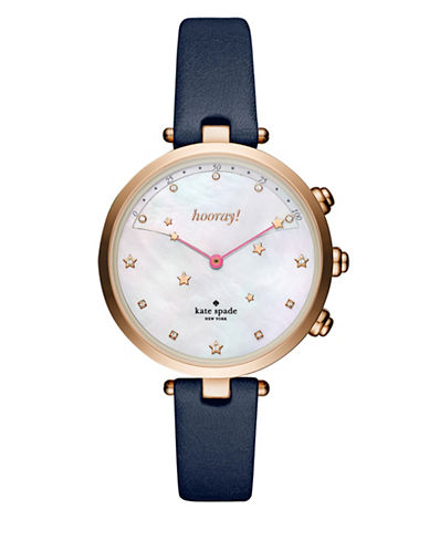 Kate Spade New York Holland Slim Navy Strap Hybrid Smartwatch-BLUE-One Size