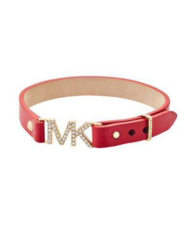 Michael Kors Studded Leather Bracelet-GOLD-One Size