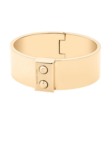 Michael Kors Wide Bangle Bracelet-GOLD-One Size