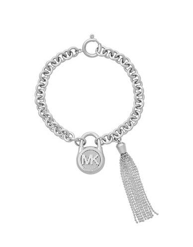 Michael Kors Tasseled Chain Bracelet-SILVER-One Size