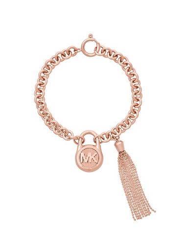 Michael Kors Tasseled Chain Bracelet-ROSE GOLD-One Size