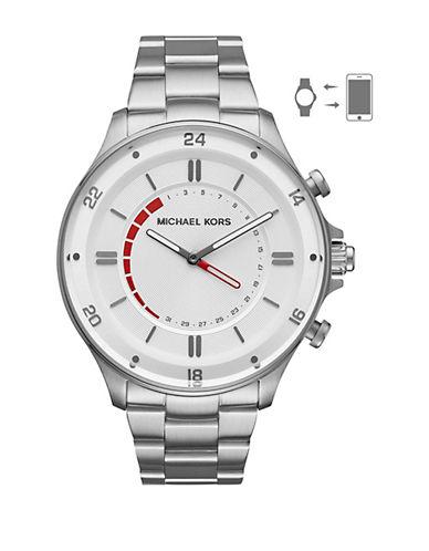 Michael Kors Reid Silvertone Hybrid Smartwatch-SILVER-One Size