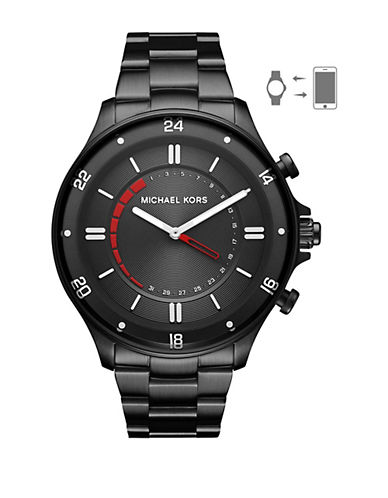 Michael Kors Reid Black Hybrid Smartwatch-BLACK-One Size