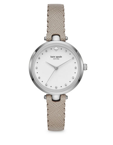 Kate Spade New York KSW1357 Three-Hand Holland Watch-GREY-One Size