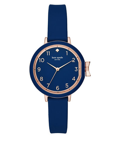 Kate Spade New York Park Row Strap Watch-BLUE-One Size