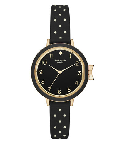 Kate Spade New York Park Row Strap Watch-BLACK-One Size