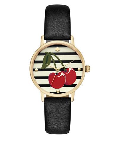 Kate Spade New York Metro Strap Watch-BLACK-One Size