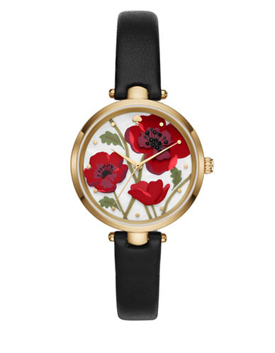 Kate Spade New York Poppy Holland Watch-BLACK-One Size