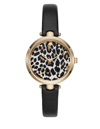Kate Spade New York Animal Print Holland Watch-BLACK-One Size