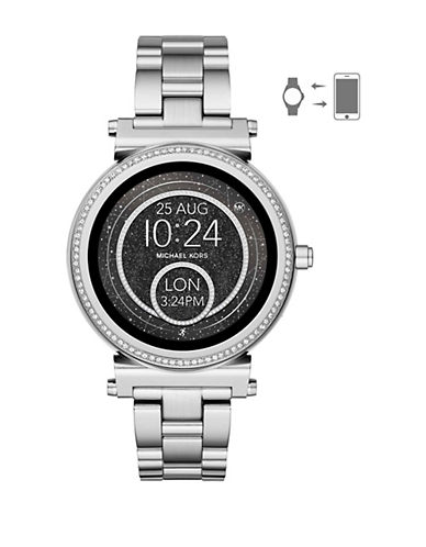 Michael Kors Sofie Silvertone Touchscreen Smartwatch-SILVER-One Size