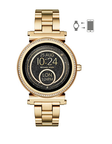 Michael Kors Sofie Touchscreen Smartwatch Goldtone Stainless Steel Watch-GOLD-One Size