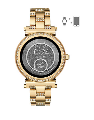 Michael Kors Sofie Goldtone Touchscreen Smartwatch-GOLD-One Size