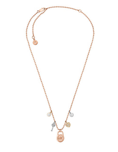 Michael Kors Padlock Pendant Chain Necklace-ASSORTED-One Size