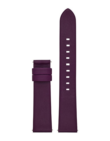 Michael Kors Sofie Plum Leather Watch Strap-PURPLE-One Size