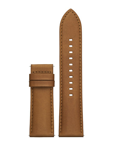 Michael Kors Grayson Leather Watch Strap-BROWN-One Size