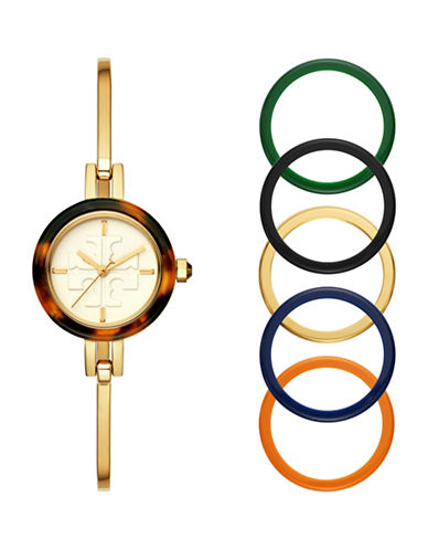 Tory Burch The Gigi Gold-Tone Interchangable Topring Bangle Watch-MULTI-One Size