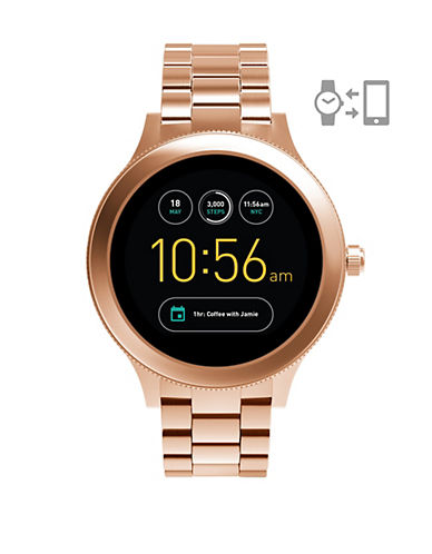 Fossil Gen 3 Smartwatch - Q Venture Rose Gold-Tone Stainless Steel-ROSE GOLD-One Size