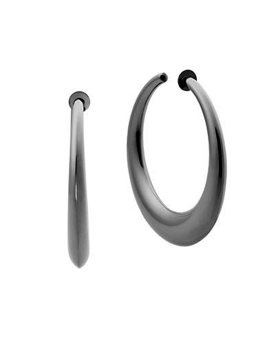 Michael Kors Runway Hoop Earrings-GREY-One Size
