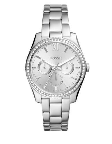Fossil Multifunction Scarlett Stainless Steel Link Bracelet Watch-SILVER-One Size