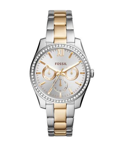 Fossil Multifunction Scarlett Two-Tone Stainless Steel Link Bracelet Watch-MULTI-One Size